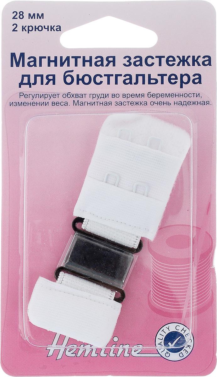Магнитная застежка для бюстгальтера Hemline, 2 крючка, цвет: белый, ширина 28 мм777.28.WМагнитная застежка для бюстгальтера Hemline изготовлена из текстиля, имеет 2 ряда петелек и 2 металлических крючка. Изделие предназначено для изготовления или ремонта бюстгальтеров. Такая застежка регулирует обхват груди во время беременности или при изменении веса. Застежка легкая и удобная в использовании, не пришивная - благодаря магниту просто достаточно пристегнуть ее. Не подходит для тех, кто носит электронный стимулятор сердца. Ширина: 28 мм. Количество крючков: 2.