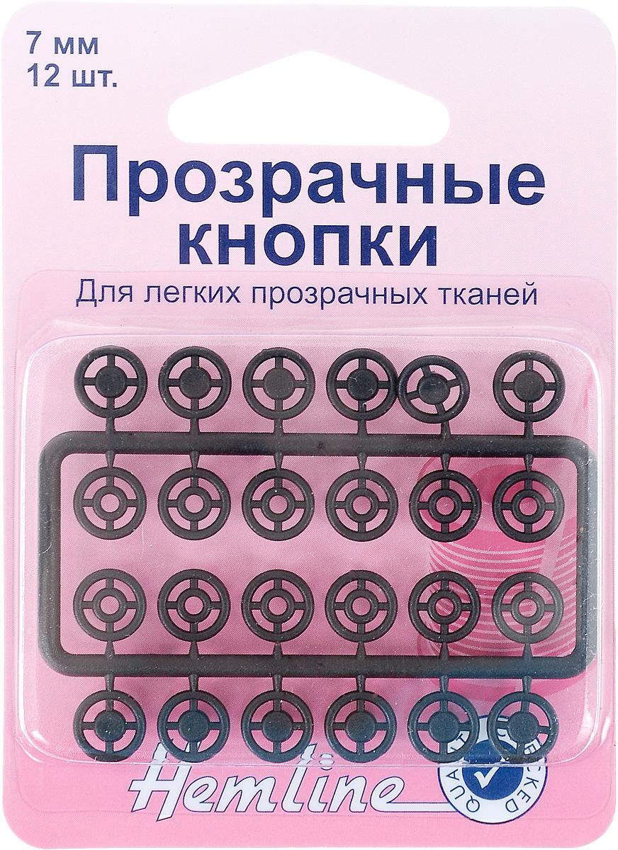 Кнопки пришивные Hemline, цвет: черный, диаметр 7 мм, 12 наборов. 422422.BПришивные кнопки Hemline, изготовленные из нейлона, используются при ремонте и пошиве одежды. Идеально подходят для легких тканей. Используйте нити в тон ткани. Кнопки собираются из 2 частей. Диаметр кнопки: 7 мм.