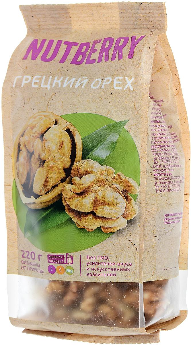 Nutberry грецкий орех, 220 г4620000676034Грецкий орех – один из самых популярных орехов в мире. Польза грецкого ореха: помогает при анемиях, болезнях сердца, дерматитах, простуде. Кроме того, грецкий орех оказывает успокаивающее действие и показан при бессоннице и нервных расстройствах. Необходим грецкий орех беременным женщинам, кормящим мамам, а также в период восстановления после перенесенных операций. В целом оказывает благотворное действие на иммунную систему организма.