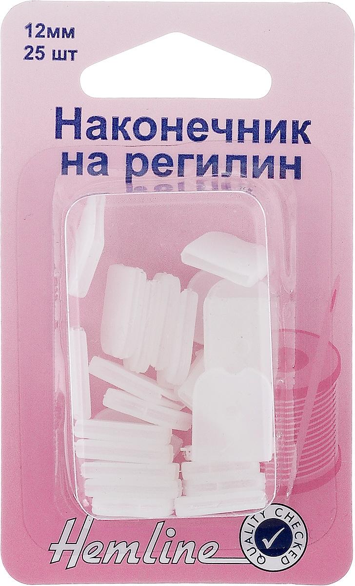 Наконечник на регилин Hemline, 12 мм, 25 шт696EC.12Наконечники Hemline, выполненные из пластика, надеваются на конец регилина или концы корсетных конструкций для защиты кожи от повреждений. Ширина наконечника: 12 мм.