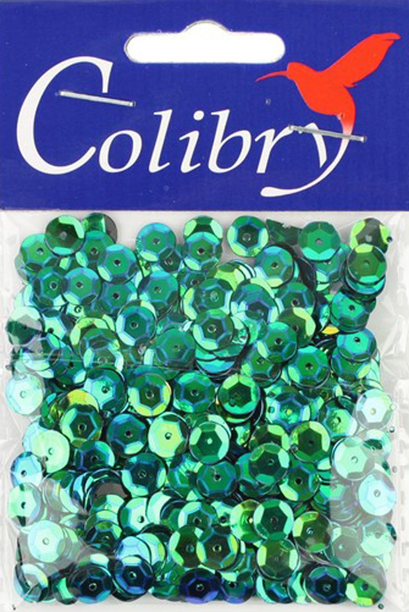 Пайетки граненые голографические Colibry, 6мм. S02-84-C6S02-84-C6