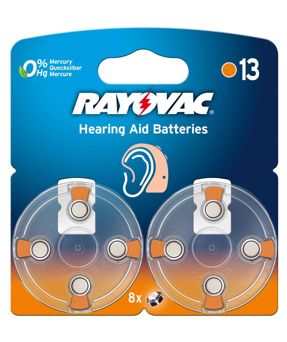 Батарейка для слуховых аппаратов Varta Rayovac Acoustic, тип 13, 1,45В, 8 шт13/PR48Батарейки Varta Rayovac Acoustic обеспечат идеальную работу слуховых аппаратов. Длительное время работы при высоких уровнях напряжения - преимущество этой специальной линейки. Не содержат ртути. Диаметр/Высота: 7,8/5,4 (мм). Электрохимическая схема: оксид цинка (ZN/O2). Мощность 310 mAh. Форм-фактор: PR48. Вес: 0,8 г.
