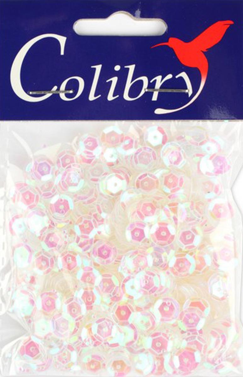 Пайетки граненые голографические Colibry, 6мм. S02-92-C6S02-92-C6
