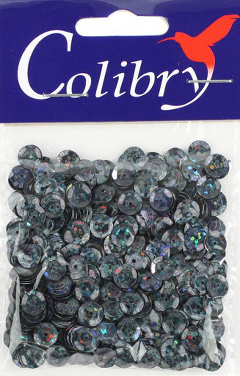 Пайетки граненые голографические Colibry, 6мм. S02-54-C6S02-54-C6