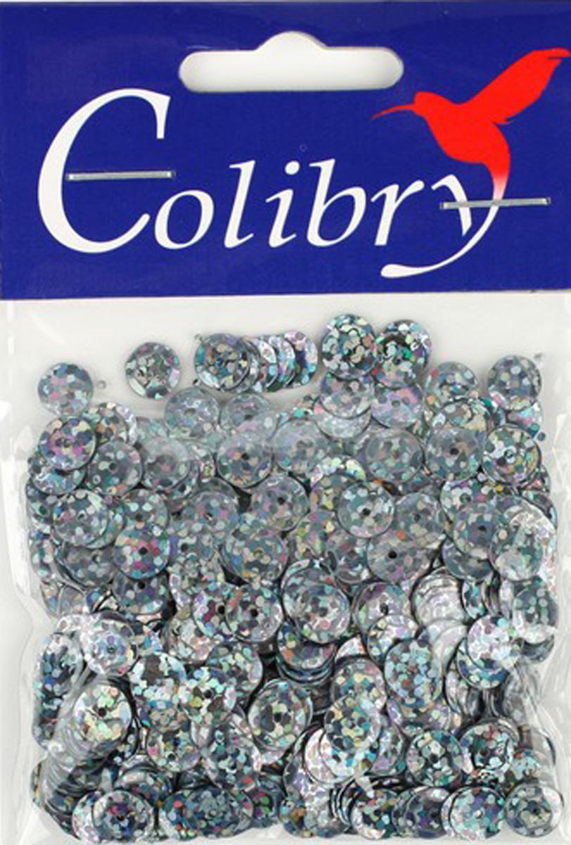 Пайетки граненые голографические Colibry, 6мм. S02-63-C6S02-63-C6