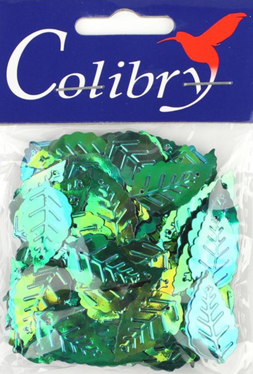 Пайетки фигурные голографические Colibry, 14х25мм. SF02-22-L14SF02-22-L14