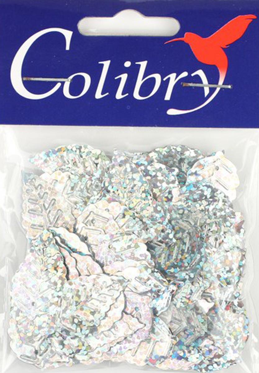 Пайетки фигурные голографические Colibry, 14х25мм. SF02-57-L14SF02-57-L14