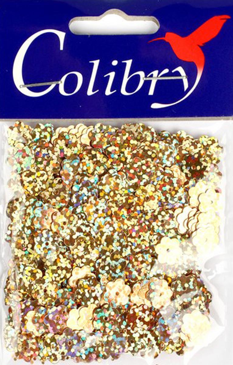 Пайетки фигурные голографические Colibry, 8мм. SF02-56-FL8SF02-56-FL8