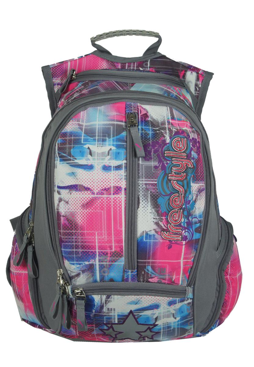 Рюкзак женский UFO people, цвет: серый, 26 л. 2989429894Лямки майка- более износостойкая конструкция. Мягкие эргономичные вставки на спинке. Уплотненное дно Фронтальные светоотражающие элементы