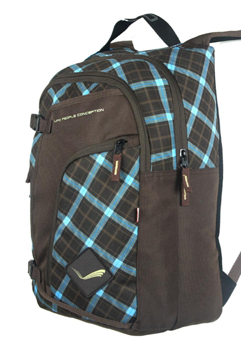 Рюкзак подростковый UFO people, цвет: оливковый, 20 л. 7000-37000-3Стеганная спинка Карман-органайзер Уплотненное дно Усиленные нейлоновые нитки Металлические пуллеры