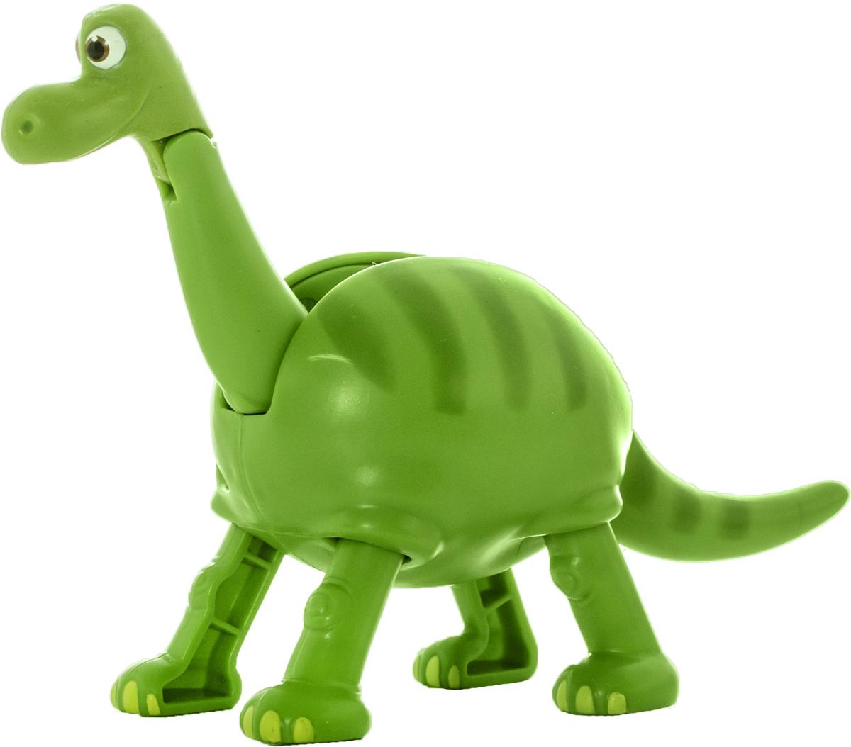 EggStars Яйцо-трансформер Арло84558Один из главных героев любимейшего детьми мультфильма «Хороший динозавр» на этот раз предстал в виде необычной игрушки – яйца-трансформера. Пластиковая фигурка апатозавра Арло в несколько простых шагов преобразуется в компактное яйцо и также легко разбирается обратно в фигурку. Игрушка научит ребенка логически мыслить, развивает мелкую моторику, ловкость пальчиков, тренирует память. Благодаря небольшим размерам игрушки, её удобно брать с собой в гости или на прогулку, она легкая и прочная, ярко окрашена и выглядит очень симпатично. Это оригинальный и полезный подарок для ребенка дошкольного и младшего школьного возраста, который несомненно порадует юных поклонников добрых и красочных Диснеевских мультфильмов.