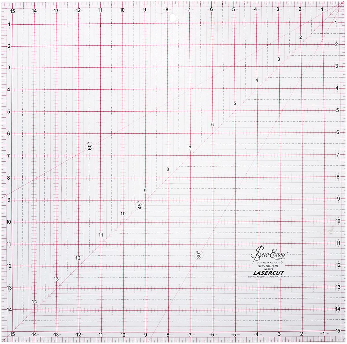 Линейка для пэчворка Hemline, с градацией в дюймах, 15 1/2 x 15 1/2 (39,37 х 39,37 см)NL4179Линейка для пэчворка Hemline квадратной формы используется для разметки и раскроя больших блоков и задней части квилтов. Идеальна для раскроя больших треугольников и ромбов. Удобна для работы в изготовлении предметов домашнего декора. Имеются линии разметки под углом 30°, 45° и 60°. Изделие имеет градацию в дюймах. Прочный акрил обладает большим сроком службы, а лазерный срез края позволяет делать ровные аккуратные линии. Улучшенная двухцветная разметка со всеми необходимыми размерами делает использование простым и удобным. Размер (в дюймах): 15 1/2 x 15 1/2.