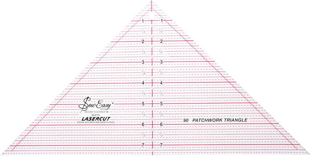 Линейка-треугольник для пэчворка Hemline, с углом 90 градусов, 7 1/2 x 15 (19,05 х 38,1 см)NL4172Линейка-треугольник для пэчворка Hemline идеально подходит для раскроя треугольных блоков с размерами до 10 дюймов, с углом 90°. Идеальный инструмент для дизайнов, где блоки привязываются к одной начальной точке. Прочный акрил обладает большим сроком службы, а лазерный срез края позволяет делать ровные аккуратные линии. Улучшенная двухцветная разметка со всеми необходимыми размерами делает использование простым и удобным. Размер (в дюймах): 7 1/2 x 15.