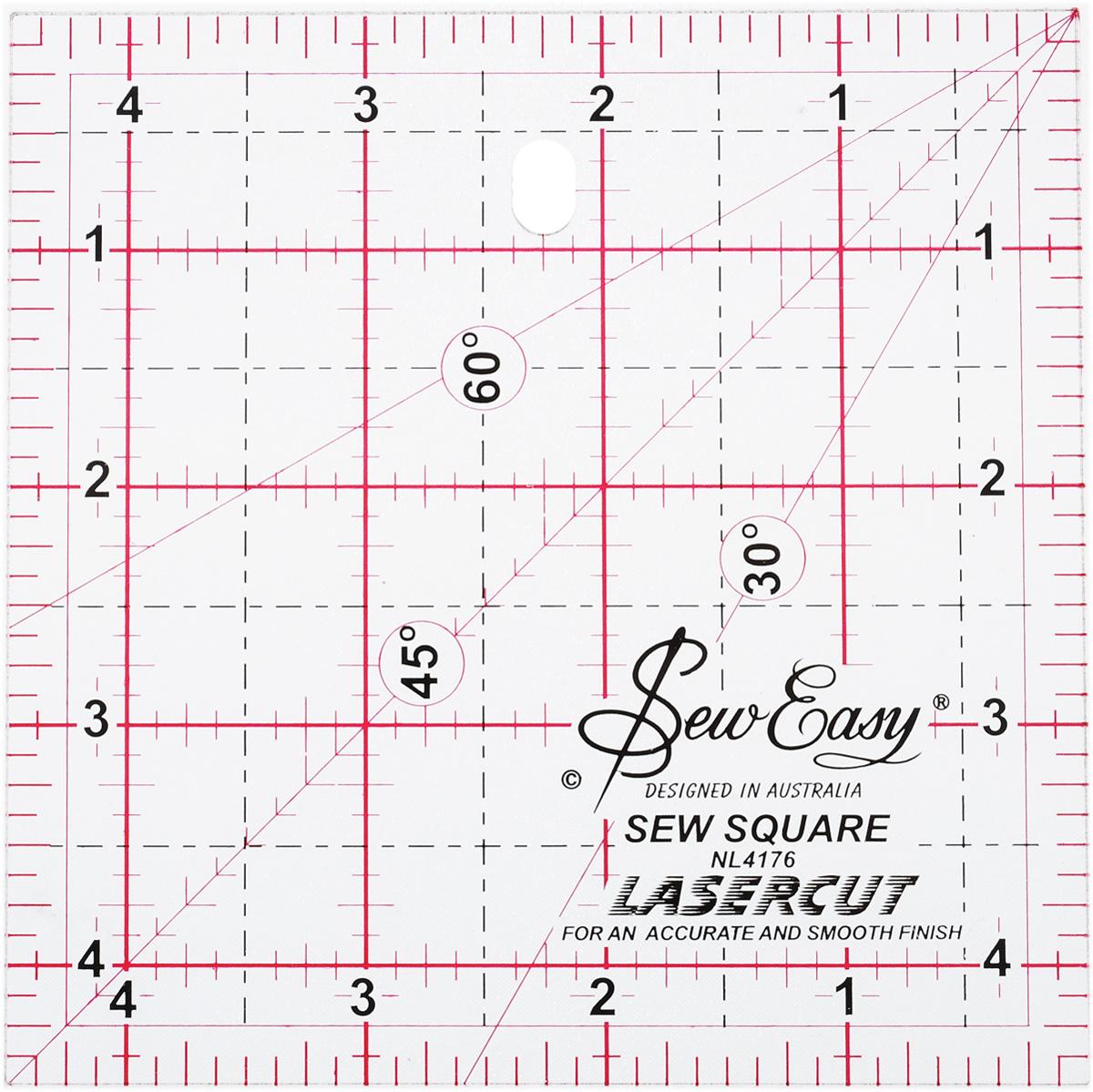 Линейка для пэчворка Hemline, с градацией в дюймах, 4 1/2 x 4 1/2 (11,46 х 11,46 см)NL4176Линейка для пэчворка Hemline квадратной формы используется для разметки и раскроя блоков для миниатюрных квилтов. Линии разметки под 30°, 45° и 60° позволяют размечать соединения под скос и треугольники. Изделие имеет градацию в дюймах. Прочный акрил обладает большим сроком службы, а лазерный срез края позволяет делать ровные аккуратные линии. Улучшенная двухцветная разметка со всеми необходимыми размерами делает использование простым и удобным. Размер (в дюймах): 4 1/2 x 4 1/2.