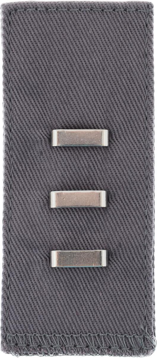 Застежка для изменения объема талии Hemline, с петлей, цвет: светло-серый769.LGЗастежка для изменения объема талии Hemline изготовлена из 100% хлопка и снабжена металлическими петлями. Она быстро увеличивает объем талии на 2,5-5 см, если брюки и юбки слишком тугие. Идеально подходит при временном увеличении веса после операции или обильного приема пищи. Не пришивная, застежку легко снимать и надевать.