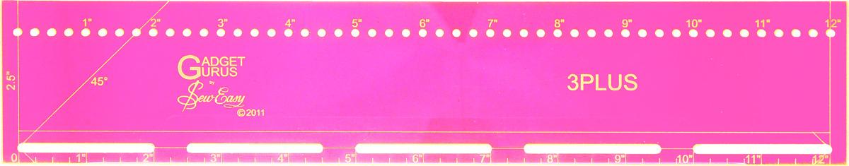 Линейка-лекало Hemline, с 3 функциями, 12 x 2,5 (30,5 x 6,4 см)ERGG09.PNKЛинейка-лекало Hemline, выполненная из качественного акрила, имеет долгий срок службы и обладает высокой прочностью. Используется вместе с ножом при работе с тканью. Создана для идеального вырезания полосок шириной 2 1/2, а также косых беек. С помощью этого инструмента можно также сделать более 40 кругов разного диаметра от 1/2 до 23 1/2. Лазерный срез края обеспечивает ровные аккуратные линии. Изделие имеет градацию в дюймах. В комплекте подробная инструкция по использованию на русском языке. С помощью такого лекала вы создадите удивительные работы в технике пэчворк и квилтинг. Размер линейки (в дюймах): 12 x 2,5.