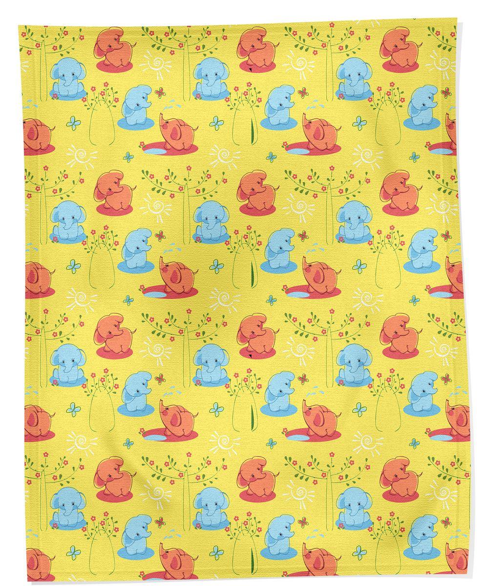Bonne Fee Плед детский Слоны цвет желтый 100 см х 70 смПС-100х70/ЖТеплый и легкий плед Слоны согреет малыша в прохладную погоду в кроватке или коляске. Изделие позволяет коже дышать и не вызывает раздражения. Легкий плед Слоны - замечательный аксессуар, который подарит Вашему малышу тепло и уют.