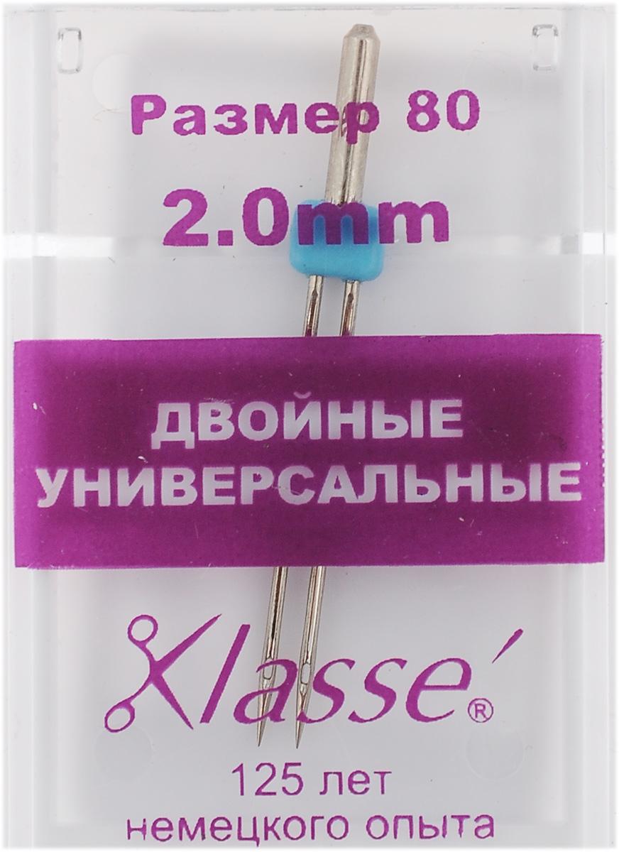 """Игла для бытовых швейных машин """"Hemline"""", универсальная, двойная, №80, 2 мм A6150/2.0"""