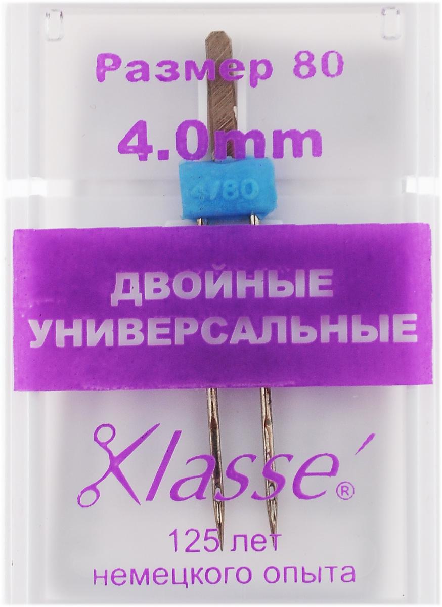 Игла для бытовых швейных машин Hemline, универсальная, двойная, №80, 4 мм. A6150/4.0A6150/4.0Двойная игла Hemline, выполненная из высококачественной стали, идеально подходит для декоративной отстрочки. Двойные игла закреплена в полиамидном блоке. Поэтому ее необходимо использовать при низкой скорости и в недолгие периоды времени. В комплекте пластиковый футляр для переноски и хранения. Номер иглы: 80. Расстояние между иглами: 4 мм.