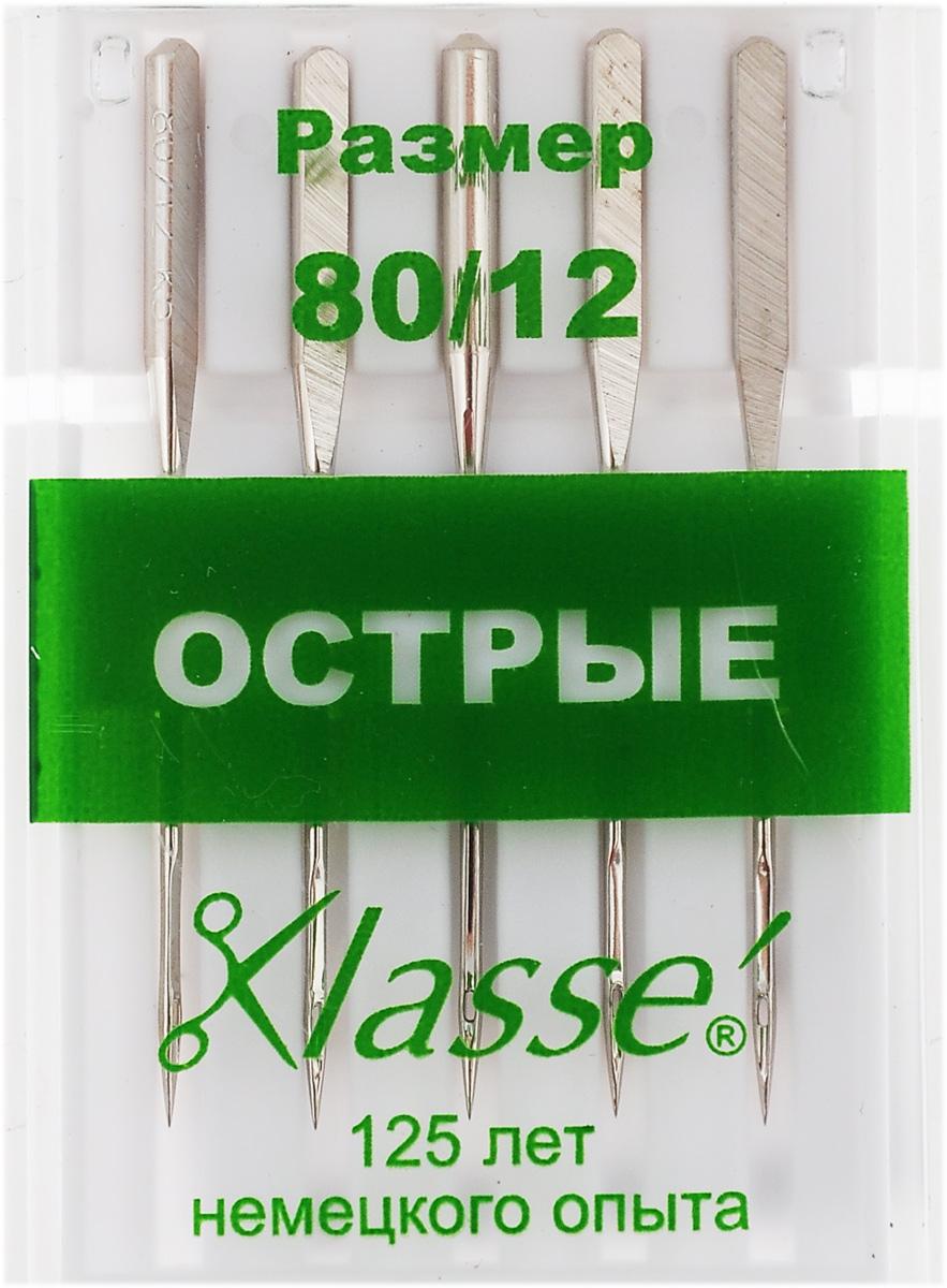 Иглы для бытовых швейных машин Hemline, c острым кончиком, №80, 5 шт. A6135/80A6135/80Острые иглы Hemline, выполненные из высококачественной стали, идеально подходят для шелка, тканей с микрофиброй и других плотнотканых материалов. Острый кончик разработан для совершенно прямых стежков в отстрочке и обработке петель. Подходят для всех современных швейных машин. В комплекте пластиковый футляр для переноски и хранения. Размер: 80/12.