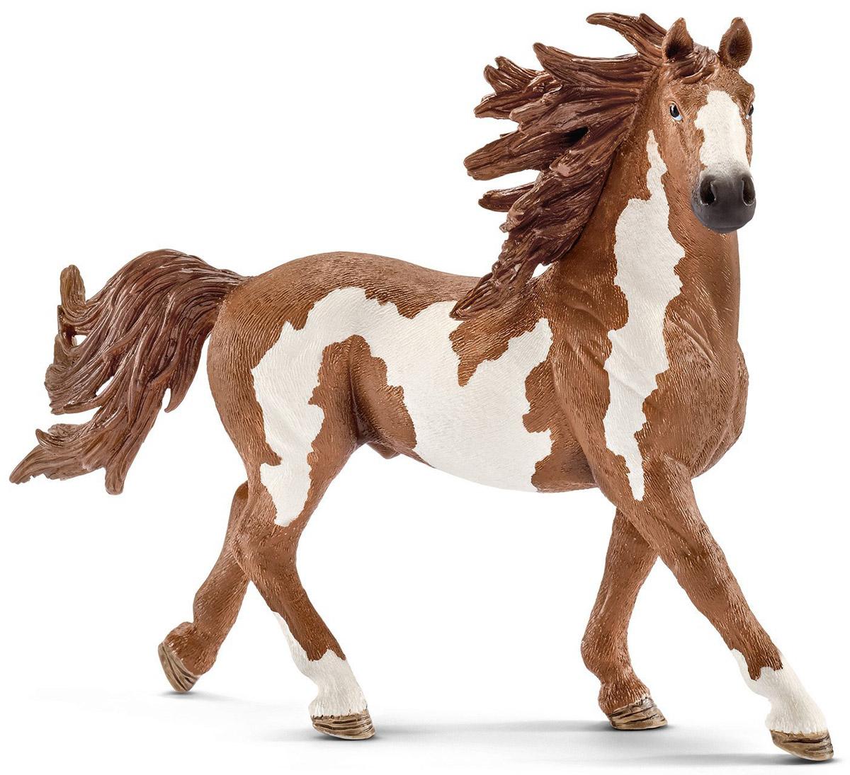 Schleich Фигурка Жеребец Пинто13794Фигурка Schleich Жеребец Пинто - яркая игрушка, которая станет прекрасным подарком и основой для игр вашего ребенка с лошадьми. Фигурки Schleich выполнены из безопасного для здоровья детей каучукового пластика с максимальной точностью, каждая фигурка раскрашивается вручную. Реалистичные фигурки детально точно воспроизводят настоящих животных, обитателей различных стран. Ребенок сможет изучать особенности их строения, поведения и питания. Фигурки Schleich - превосходный педагогический материал для использования дома и в образовательных учреждениях. Популярные в США лошади породы Пинто отличаются резвостью и ярким окрасом. Ученые США внимательно изучают окрас, характерные особенности и поведение лошадей Пинто.