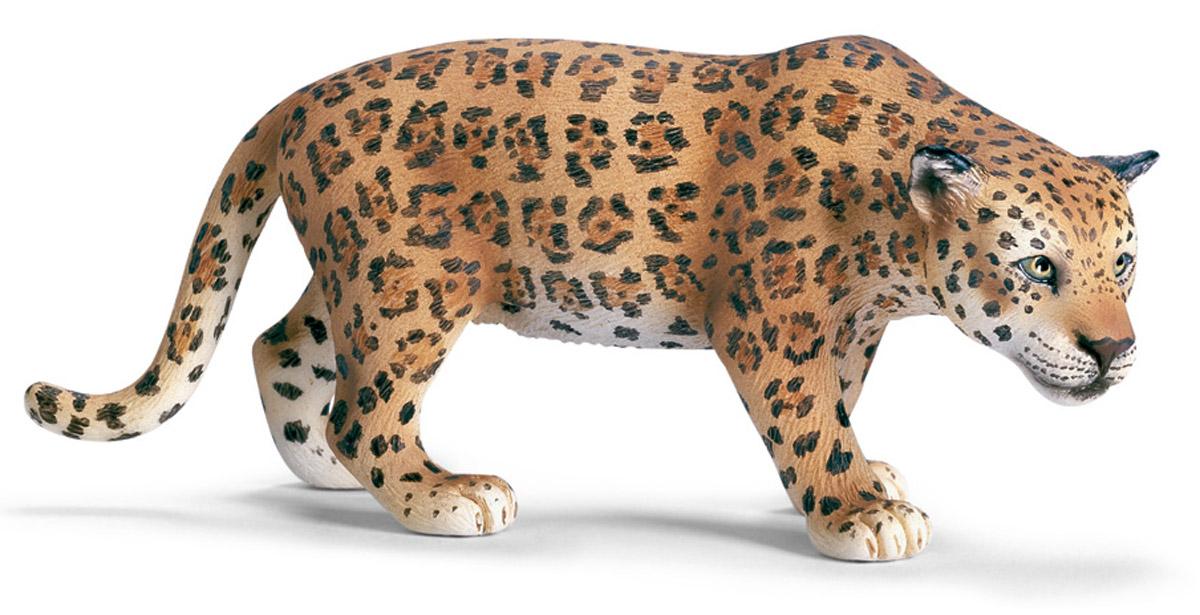 Schleich Фигурка Ягуар14359Ягуар относится к семейству кошачьих, третий самый крупный представитель этого семейства. Обитает в Северной и Южной Америке. Ягуар предпочитает жить один, у каждой особи своя территория, которая может достигать 100 квадратных километров. На охоту ягуар выходит в сумеречное время, утром и вечером. Охотится на различных парнокопытных, также на птиц, змей, лисиц и даже черепах. Фигурка Schleich Ягуар, раскрашенная вручную, выполнена из безопасного материала - пластика. Компания Schleich специализируется на выпуске детских игрушек, знакомящих с окружающей средой, развивающих творческое мышление, мелкую моторику рук.