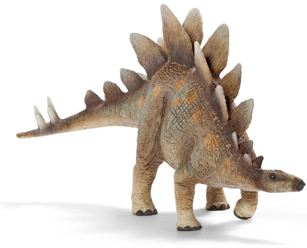 Schleich Фигурка Стегозавр14520Стегозавр - один из видов птицетазовых динозавров, живших в позднем юрском периоде. Стегозавры достаточно популярны среди динозавров. Они питались травой и растениями, заглатывали камни для перемалывания пищи. Стегозавр передвигался на задних лапах и имел острые шипы на хвосте. Пластины стегозавра располагались в виде крыши на спине животного, дав название этому виду рептилий. Прочные пластины, количество которых доходило до 17 штук, покрывали всю спину животного. Фигурка Schleich Стегозавр ярко раскрашена и выполнена из материала высокого качества. Она станет отличным экспонатом в вашей коллекции динозавров.