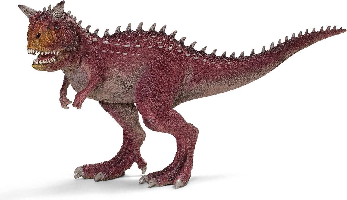 Schleich Фигурка Карнотавр14527Карнотавр - хищный плотоядный динозавр. Он передвигался на сильных задних конечностях, имел челюсти, полные острых, длинных зубов. Карнотавр обитал во времена Мелового периода около 70 миллионов лет назад. Этот динозавр достигал длины до 9 метров и весил от 1,5 до 2 тонн. Несомненно, карнотавр был одним из самых опасных хищников своего времени. Фигурка Schleich Карнотавр, раскрашенная вручную, изготовлена из безопасного материала - каучукового пластика. Игрушка развивает творческое мышление, мелкую моторику рук. У фигурки динозавра подвижная нижняя челюсть.