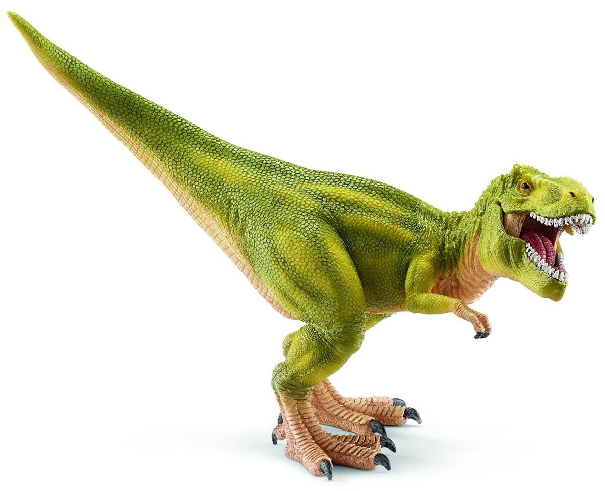 Schleich Фигурка Тираннозавр Рекс 1452814528Кровожадный тираннозавр, много миллионов лет назад обитавший в районе современной Северной Америки, представлен в виде грациозного и свирепого динозавра. Фигурка полностью передает внешний облик доисторического животного. Мощное тело, достигавшее 13 метров в высоту, устойчиво стоит на задних лапах. Его крупный череп и зубы, достигающие 20 сантиметров, производят грозное впечатление, а раскрытая пасть говорит о враждебном настроении Рекса. Фигурка Schleich Тираннозавр Рекс имеет подвижную нижнюю челюсть.