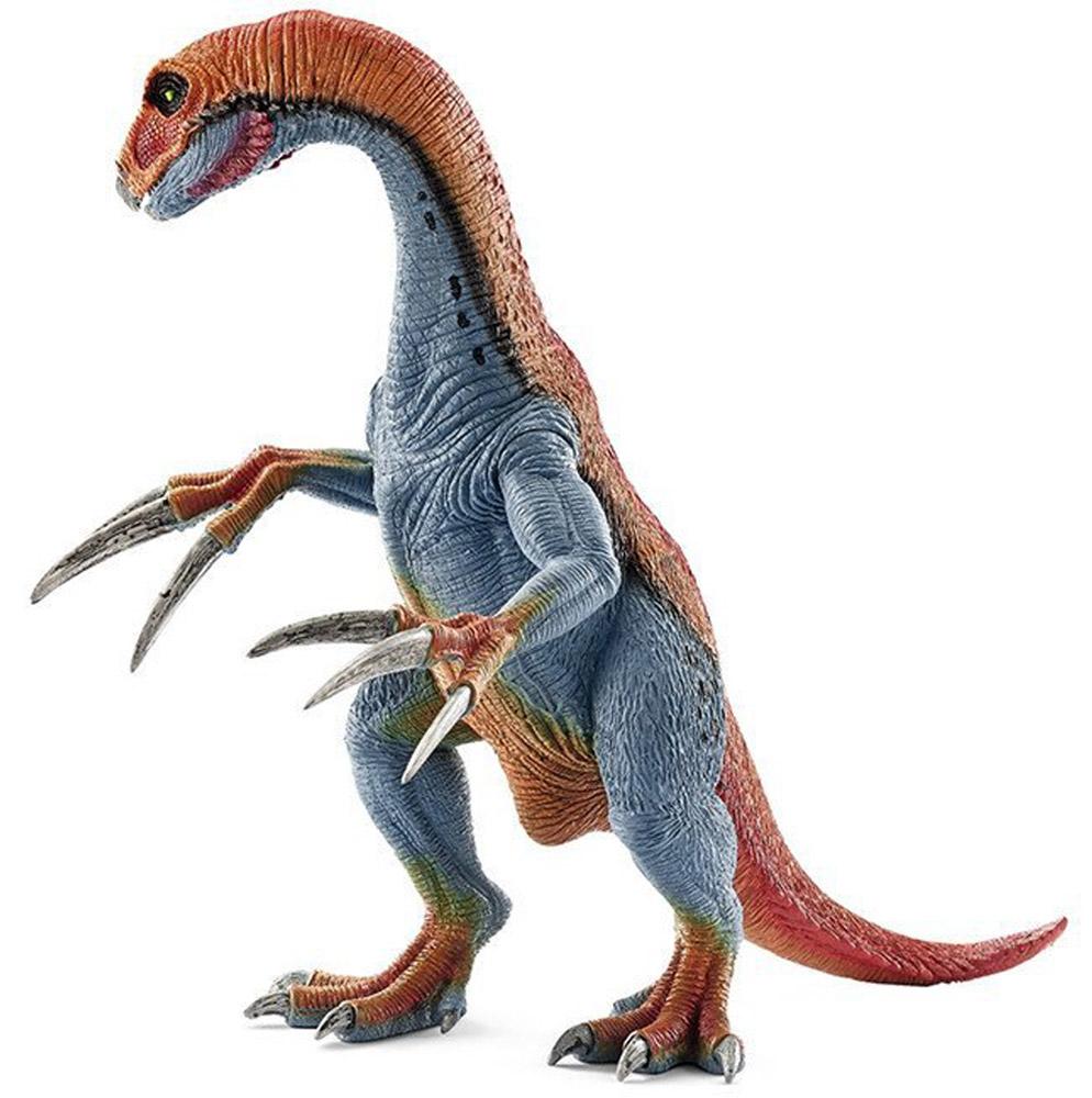 Schleich Фигурка Теризинозавр14529Древний динозавр, проживавший на земле много миллионов лет назад, представлен в виде стоящего на задних лапах теризинозавра сине-оранжевого цвета. Теризинозавр отличается от своих сородичей невероятно длинными когтями, которые помогали ему находить пищу и сражаться с врагами. Игрушка динозавра выполнена из качественного каучукового пластика, который безопасен для детей и не вызывает аллергию. Динозавр станет достойным пополнением красочной коллекции. Фигурка Schleich Теризинозавр имеет подвижную нижнюю челюсть и подвижные передние лапы, что сделает игру более увлекательной и оживленной.