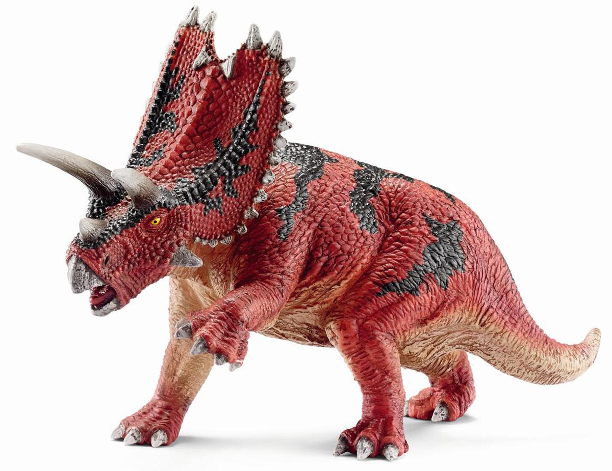 Schleich Фигурка Пентацератопс14531Мощная фигурка Schleich Пентацератопс, представленная в виде готового к нападению животного яркого цвета, порадует всех поклонником миниатюрных фигурок и любителей самых древних обитателей планеты. Красочный динозавр с крупным телом и большой головой с выступающими рогами производит впечатление очень опасного животного. Считается, что его череп, который достигал 3 метров в длину, был самым крупным среди хищных динозавров. Фигурка доисторического животного создана с точной и детальной передачей всех особенностей строения и внешнего вида.