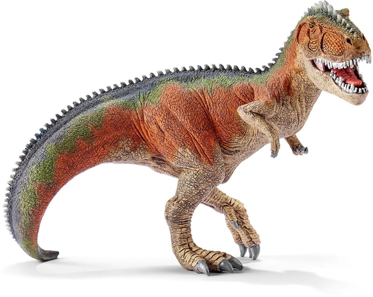 Schleich Фигурка Гигантозавр 1454314543Древнее животное гигантозавр, проживавшее на земле много миллионов лет назад, представлено в виде фигурки динозавра, идущего на четырех лапах. Гигантозавр был мощным хищником в позднем меловом периоде. У гигантозавра были мощные, но короткие зубы. Фигурка динозавра выполнена из качественного каучукового пластика, который безопасен для детей и не вызывает аллергию. Фигурка Schleich Гигантозавр имеет подвижную нижнюю челюсть.
