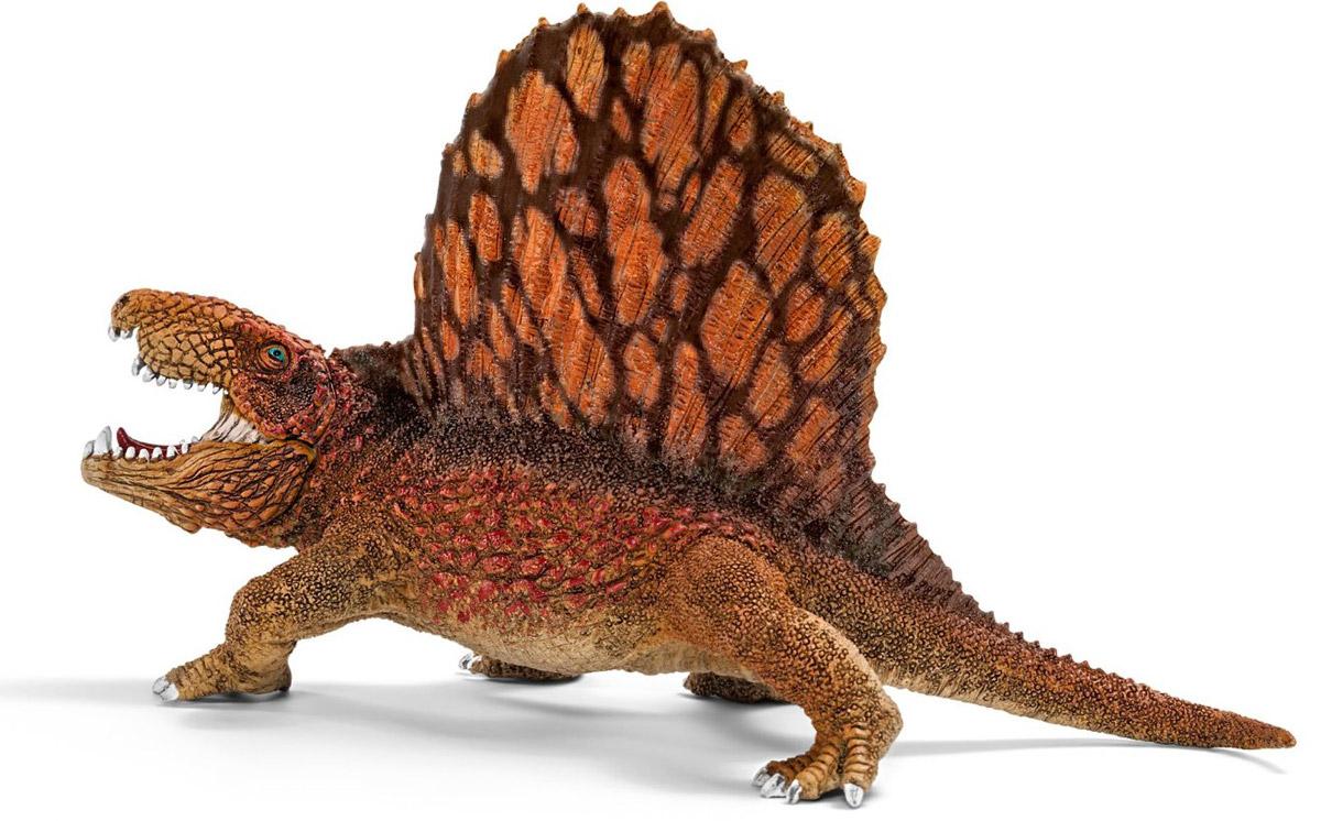 Schleich Фигурка Диметродон14569Одним из первых гигантских динозавров в мире стал диметродон. У него был большой гребень на спине, состоящий из костей, обтянутых кожей. Диметродон был отличным охотников, он мог даже убить животное больше размером, чем он сам. Диметродон передвигался как ящерица, потому что его лапы располагались по бокам от тела. Это был пугающий наземный хищник, живший примерно 300-270 миллионов лет назад - то есть за 40-70 миллионов лет до первого доисторического ящера. Диметродон не был настоящим динозавром, скорее это была доисторическая рептилия, тесно связанная с млекопитающими. Он охотился на других рептилий, амфибий и рыб, которых ловил и рвал на части своими острыми как бритва зубами. Его научное наименование в переводе означает два размера зубов, поскольку зубы диметродона действительно были разного размера. Фигурка Schleich Диметродон имеет подвижную нижнюю челюсть.
