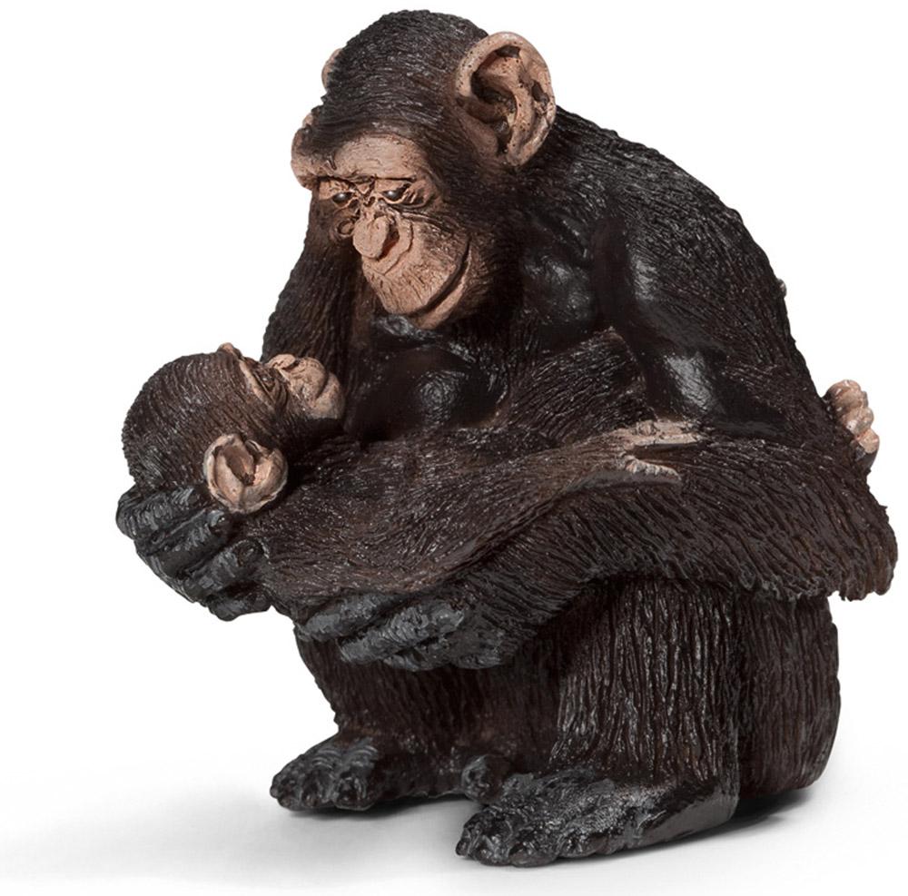 Schleich Фигурка Самка шимпанзе с детенышем14679Обыкновенные шимпанзе живут в сообществах, которые типично колеблются от 20 и более чем до 150 особей. Они живут и на деревьях и на земле равное время. Их обычная походка является четвероногой, используя подошвы ног и опоры на суставы рук, но они могут идти и вертикально на короткие расстояния. Ночь проводят в гнездах на деревьях, гнезда каждый вечер строят заново. Шимпанзе всеядное животное. Фигурка Schleich Самка шимпанзе с детенышем, раскрашенная вручную, выполнена из безопасного материала - пластика. Компания Schleich специализируется на выпуске детских игрушек, знакомящих с окружающей средой, развивающих творческое мышление, мелкую моторику рук.