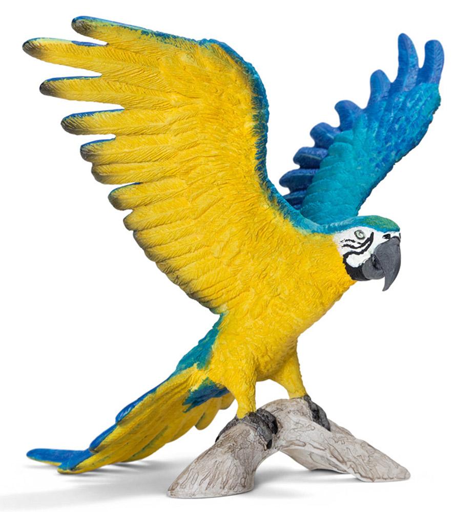 Schleich Фигурка Сине-желтый Ара14690Фигурка Schleich Сине-желтый Ара представлена на ветке с расправленными яркими крыльями. Реалистичная игрушка познакомит детей с представителями экзотической природы и обитателями жарких стран. Фигурка прекрасно сочетается с другими игрушками и произведет благоприятное впечатление не только на детей, но и взрослых. Красочный попугай с сине-желтым оперением и крепким клювом проживает в тропических лесах Южной Америки. Он очень дружелюбный и любит поболтать, раскачиваясь на ветках деревьев. Попугай предпочитает жить в далеких тропических лесах, не тронутых человеком. Ара очень преданные и живут всю жизнь со своей парой. Попугай очень привязан к своему дому. Весь день он проводит в поисках пищи, улетая на большие расстояния от гнезда и возвращаясь после захода солнца.