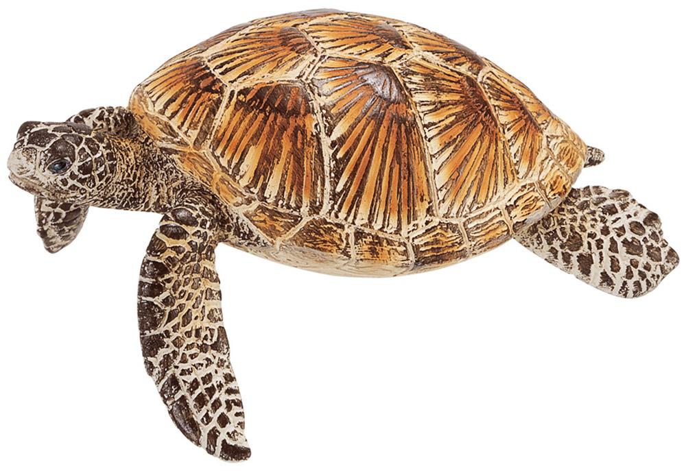Schleich Фигурка Морская черепаха14695Фигурка Schleich Морская черепаха, раскрашенная вручную, изготовлена из безопасного материала - пластика. Компания Schleich специализируется на выпуске детских игрушек, знакомящих с окружающей средой, развивающих творческое мышление, мелкую моторику рук. Морская черепаха прекрасно адаптирована для жизни в воде. У нее обтекаемое туловище и лапы в виде ласт, что позволяет черепахе довольно быстро плавать. Ее движения под водой напоминают полет птицы. Интересно, что морская черепаха не может спрятать свою большую голову в панцирь.