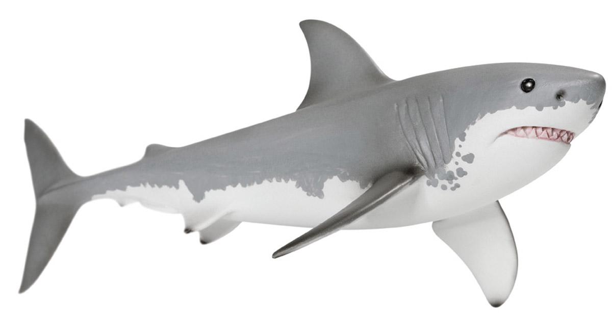 Schleich Фигурка Белая акула14700Ни одно из мест обитания не обладает таким разнообразием видов, как океаны нашей планеты. Здесь проживает множество необыкновенных животных, от морских коньков до громадных синих китов. Большие белые акулы - крупнейшие в мире хищные акулы, они нападают на своих жертв из морских глубин. Эти глубоководные хищники могут достигать в длину до девяти метров и весить более двух тонн. Белая акула питается рыбой, ластоногими, осьминогами и морскими черепахами. Белые акулы являются не только крупнейшими хищниками, но они также одни из самых быстрых рыб в океане, эти акулы могут плавать до 32 км в час. У акулы для охоты на свою добычу есть 50 острых зубов, старые зубы выпадают, и на их месте вырастают новые, острые, как бритва зубы. Фигурка Schleich Белая акула, раскрашенная вручную, выполнена из безопасного материала - пластика. Компания Schleich специализируется на выпуске детских игрушек, знакомящих с окружающей средой, развивающих творческое мышление, мелкую моторику рук.
