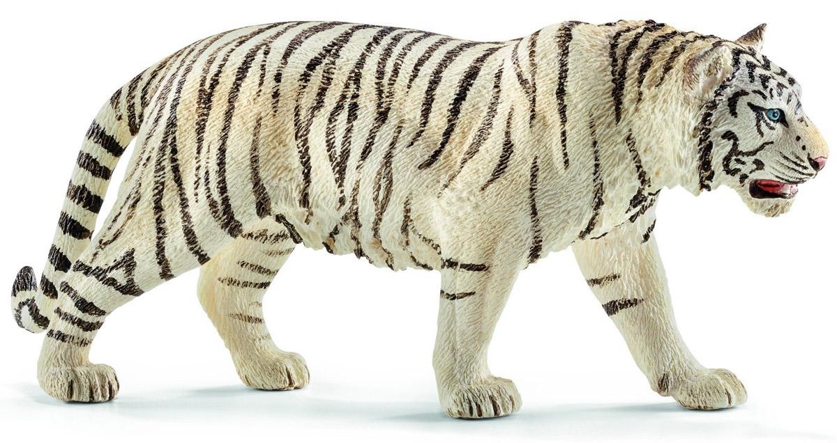 Schleich Фигурка Белый тигр14731Белые тигры невероятно красивые и редкие животные. У них белоснежный мех и яркие черные полоски. Сейчас белые тигры, как правило, живут в зоопарках и находятся под угрозой исчезновения. Фигурка Schleich Белый тигр - яркая и реалистичная игрушка для вашего ребенка, которая разнообразит его игры. Фигурка тигра выполнена в черно-белом цвете. Тигр стоит на четырех лапках, у него яркие голубые глазки. Игрушка тигра выполнена из качественного каучукового пластика, который безопасен для детей и не вызывает аллергию. Прекрасно выполненные фигурки Schleich отличаются высочайшим качеством игрушек ручной работы. Все они создаются при постоянном сотрудничестве с Берлинским зоопарком, а потому являются максимально точной копией настоящих животных. Каждая фигурка разработана с учетом исследований в области педагогики и производится как настоящее произведение для маленьких детских ручек.