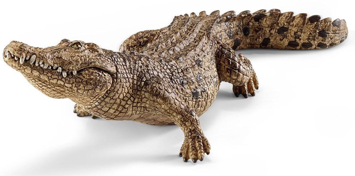 Schleich Фигурка Крокодил14736Фигурка Schleich Крокодил понравится всем любителям животных своей реалистичностью и станет прекрасным дополнением коллекции животных. Все фигурки Schleich выполнены из гипоаллергенных высокотехнологичных материалов, раскрашены вручную и не вызывают аллергии у ребенка. Изделия отличаются высочайшим качеством игрушек ручной работы. Все они создаются при постоянном сотрудничестве с Берлинским зоопарком, а потому являются максимально точной копией настоящих животных. Каждая фигурка разработана с учетом исследований в области педагогики и производится как настоящее произведение для маленьких детских ручек. Все ныне живущие крокодилы являются полуводными животными. Крокодилы обитают во всех тропических странах в пресных водоемах. Некоторые виды могут обитать в соленой воде, поэтому их можно встретить в прибрежной части моря. Большую часть суток крокодилы проводят в воде.