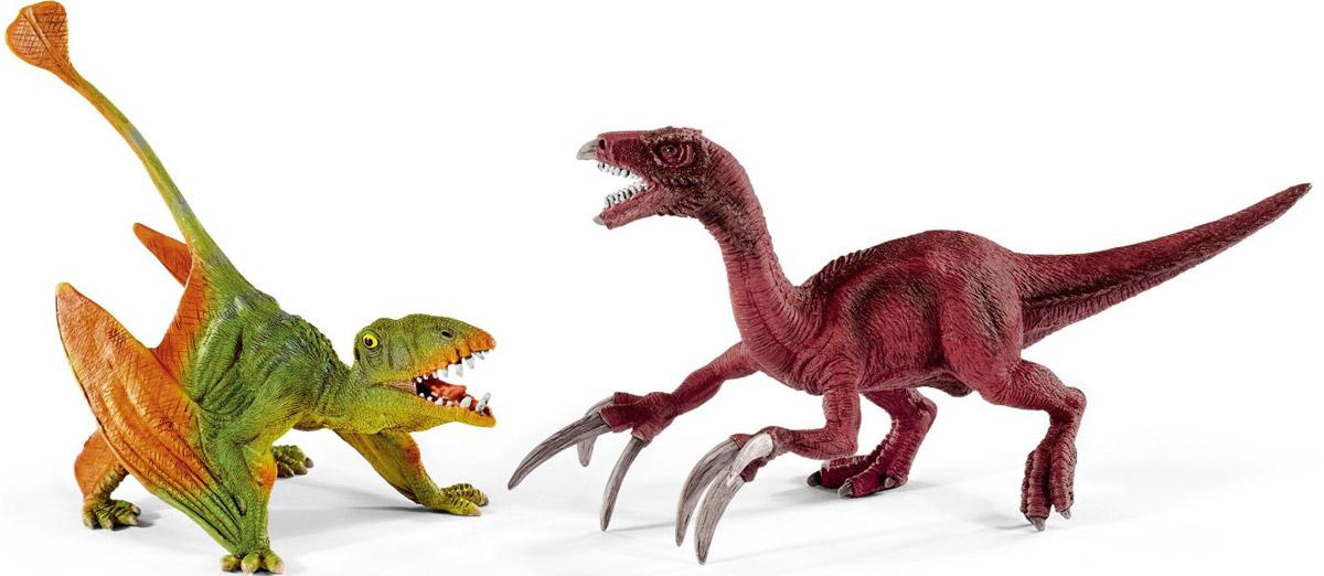 Schleich Набор фигурок Диморфодон и теризинозавр41425Набор фигурок Schleich Диморфодон и теризинозавр приведет в восторг всех любителей динозавров и доисторических животных. В набор входят диморфодон и теризинозавр. Великолепные фигурки динозавров выполнены очень детализировано. Они позволят ребенку придумать множество захватывающих игр со своими любимыми древними обитателями. Фигурки изготовлены из качественного каучукового пластика, который безопасен для детей и не вызывает аллергию. Ребенок сможет собрать целую серию доисторических животных, сможет изучать особенности их строения, поведения и питания. Фигурки - превосходный педагогический материал для использования дома и в образовательных учреждениях.