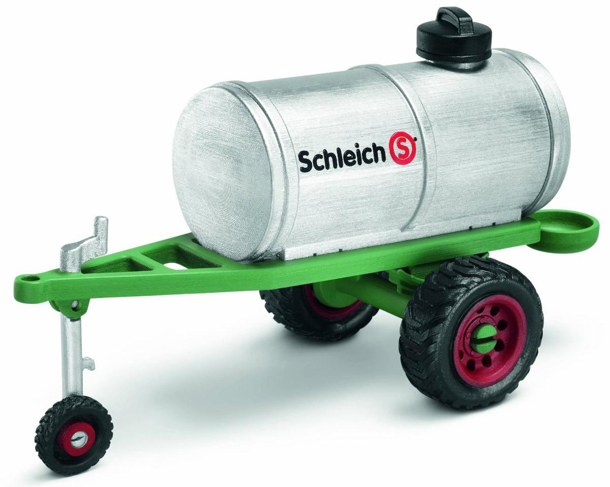 Schleich Прицеп с цистерной42041Цистерна - незаменимая вещь при транспортировке жидкостей, с ее помощью можно доставить чистую воду в любой уголок заповедника или фермы, что иногда бывает очень важно. Прицеп с цистерной может быть прикреплен к любому грузовику с помощью специального крепления. Компания Schleich специализируется на выпуске детских игрушек, знакомящих с окружающей средой, развивающих творческое мышление, мелкую моторику рук.