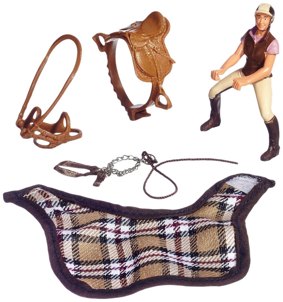 Schleich Игровой набор Любитель верховой езды42057Отважная юная наездница на прекрасной лошади станет великолепным украшением коллекции игрушек Schleich. Ну а для того, чтобы она выиграла скачки, стоит лишь немного ее потренировать. Наездница одета в коричневый жилет и сапоги, фиолетовое поло и бежевые брюки. Все элементы набора выполнены с реалистичной точностью, раскрашены вручную нетоксичными красками. В набор входит наездница с аксессуарами. Лошадь в набор не входит. К наезднице подходит любая лошадь Schleich.