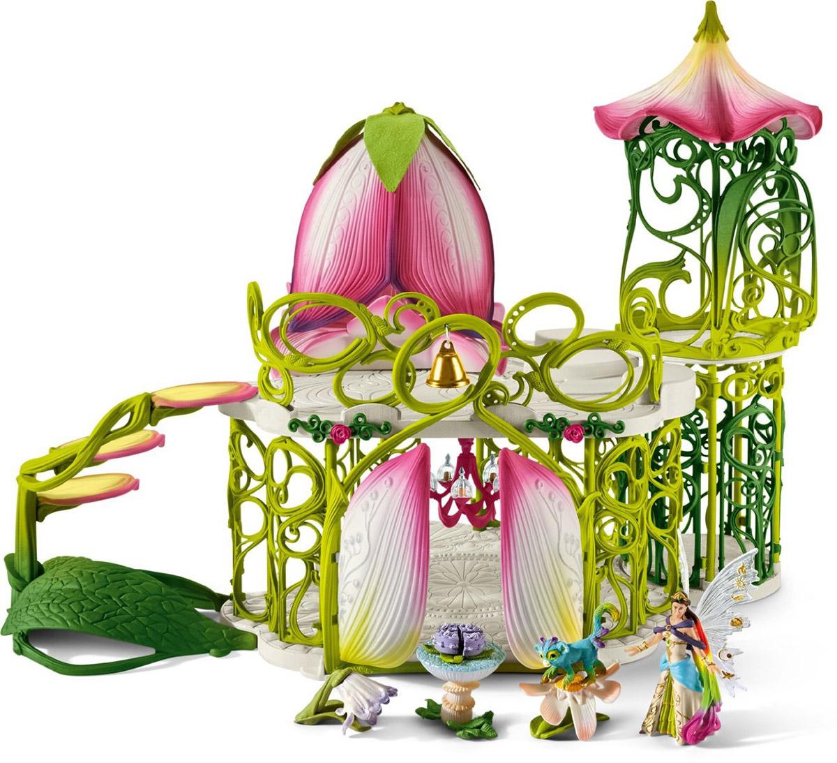 Schleich Игровой набор Волшебный эльфийский замок с аксессуарами42140Игровой набор Schleich Волшебный эльфийский замок с аксессуарами создан для увлекательных сюжетно-ролевых игр и поможет ребенку погрузиться в волшебную атмосферу прекрасных эльфов. Превосходный замок эльфов окутан магией и волшебством. Здесь вы найдете множество площадок, на которых могут расположиться фигурки эльфов, потайное место, где эльфы хранят свои любимые магические предметы, а также множество декоративных элементов, которые приведут в восторг всех ценителей серии Bayala. Набор выполнен из каучукового пластика. Игрушка функциональна и позволяет использовать игровое пространство, создавая различные сюжеты. Во время игр у ребенка тренируется мелкая моторика, развиваются воображение, внимание, логическое и абстрактное мышления.
