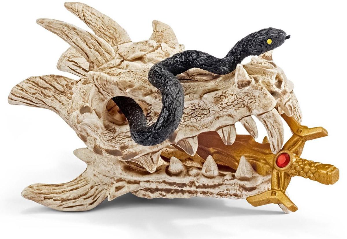 Schleich Игровой набор Сокровище дракона42152Игровой набор Schleich Сокровище дракона придется по душе вашему ребенку! Особенное сокровище, спрятанное в секретной комнате замка Дракона, - волшебный меч давно погибшего рыцаря Дракона. Это часть черепа дракона, некогда могучего. Сокровище охраняется смертельно ядовитой змеей, которая кусает и убивает любого, кто хочет завладеть мечом. Однажды всадник-дракон должен появиться и стать хозяином этого меча. Он завладеет мечом, сможет оседлать дракона и станет практически неуязвимым воином. Прекрасно выполненный игровой набор Schleich Сокровище дракона отличается высочайшим качеством игрушек ручной работы. Набор разработан с учетом исследований в области педагогики.