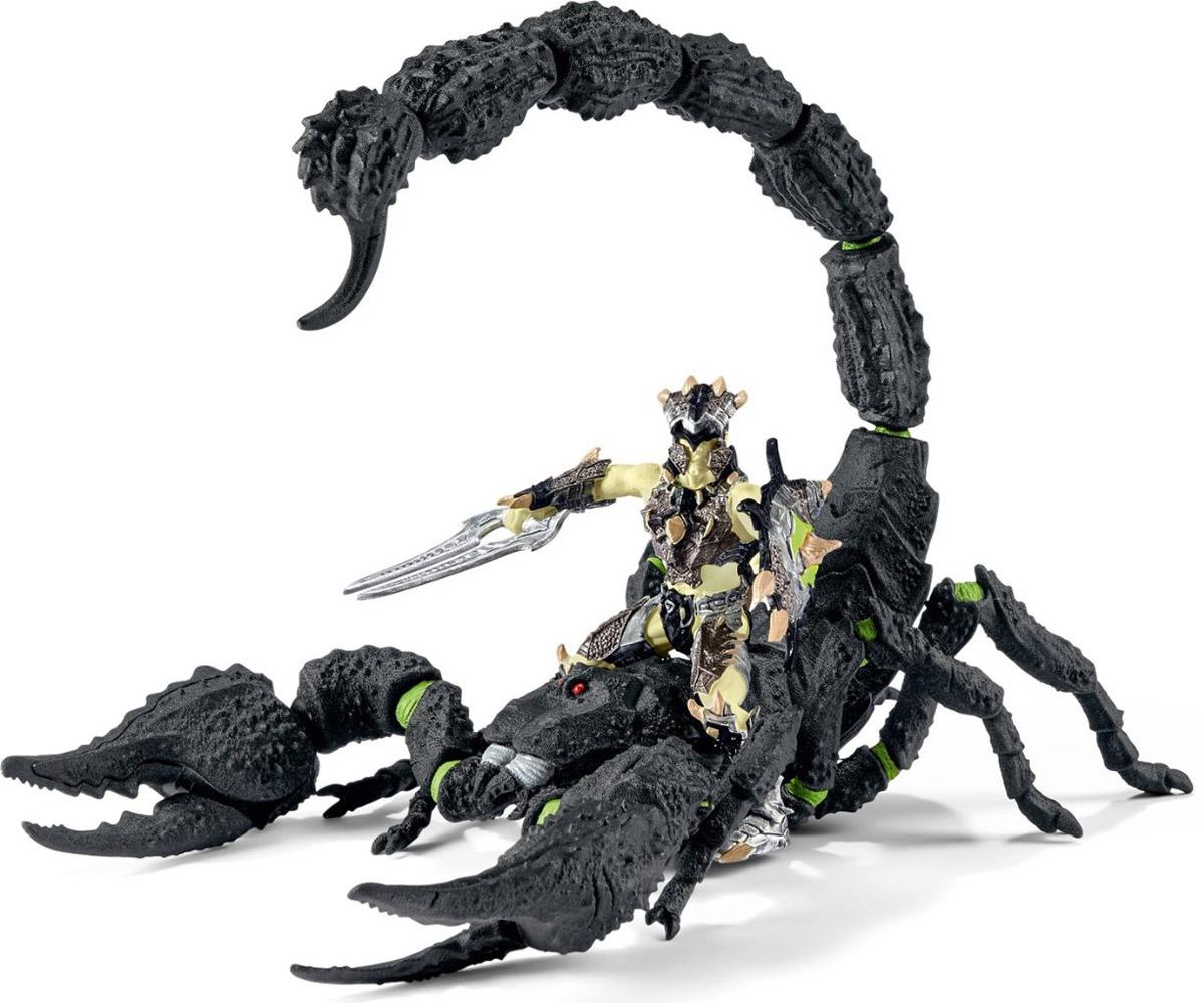 Schleich Фигурка Воин на скорпионе70124Фигурка Schleich Воин на скорпионе - отличный выбор для ролевых игр мальчиков. Средневековые замки, магические воины, рыцари, поединки, принцессы и драконы - размах для фантазии может быть безграничен. Главное, придумывать свои захватывающие истории. Обязательно соберите всю коллекцию из серии Рыцари и тогда вы сможете воспроизвести с детальной точностью увлекательные баталии. Эти игрушки идеально подойдут для ролевых игр как для одного ребенка, так и для большой компании. Вооруженный воин со скорпионом - один из представителей мужественных воинов. Скорпион быстро появляется буквально из ниоткуда, его укус смертельно опасен для врага. Однако, никто не знает, что меч отважного воина также ядовит, и всадника стоит опасаться ничуть не меньше скорпиона.
