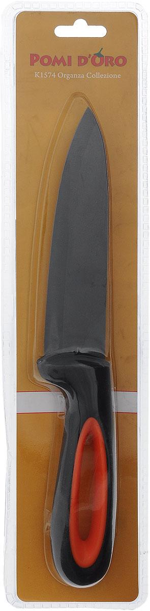 Нож поварской Pomi d'Oro Organza, керамический, длина лезвия 15 см77.858@23613 / K1574 OrganzaНож Pomi dOro Organza изготовлен из черной керамики Kerano. Kerano - это уникальный керамический нано-материал, который не содержит вредные примеси, в том числе перфоктановую кислоту (PTFE) и примеси, используемые для легированной стали. Материал изделия не вступает в реакцию с пищей во время готовки. Изделие имеет эргономичную обрезиненную ручку, которая не скользит в руках и делает резку удобной и безопасной. Можно мыть в посудомоечной машине. Длина ножа: 27,5 см.