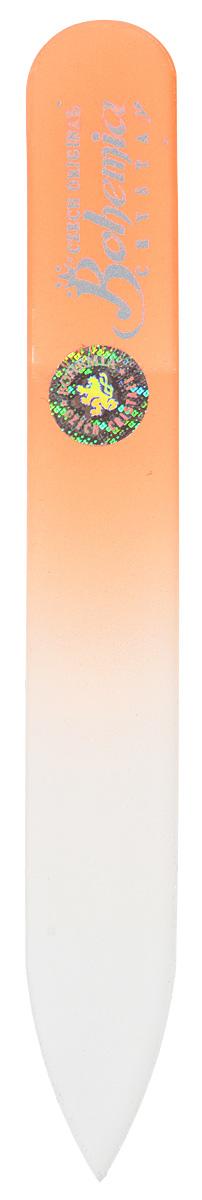 Пилочка для ногтей Bohemia, стеклянная, чехол из замши. 0902, цвет: оранжевый233cz-0902_оранжевыйСтеклянная пилочка Bohemia подходит как для натуральных, так и для искусственных ногтей. После пользования стеклянной пилочкой ногти не слоятся и не ломаются. Эта пилочка прекрасно шлифует и придает форму ногтям. При уходе за накладными ногтями рекомендуем пилочку во время работы периодически смачивать в воде. К пилочке прилагается чехол из замши.