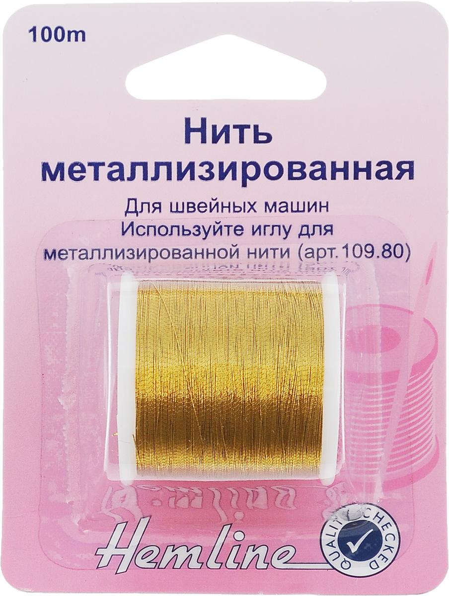 Нить металлизированная Hemline, цвет: золотой, 100 м242.GМеталлизированная нить Hemline предназначена для использования с бытовыми швейными машинами. Она прочная и крепкая, что обеспечивает ей долгий срок службы. Для работы с изделием нужно использовать иглу для металлизированной нити.
