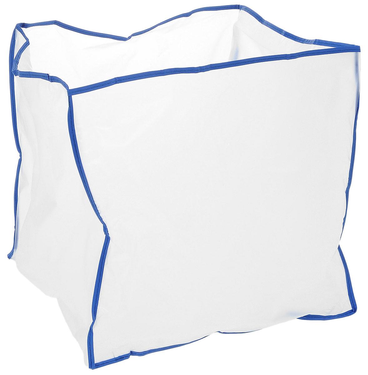 Чехол для швейной машины Hemline, 32 х 30 х 28 см192Чехол Hemline, изготовленный из плотного, полупрозрачного полиэтилена, идеально подходит для любых типов краеобметочных и оверлочных машин. По краю выполнена синяя оторочка. С таким изделием ваша машинка будет защищена от пыли, грязи, текстильных волокон и солнечного света. Размер чехла: 32 х 30 х 28 см.