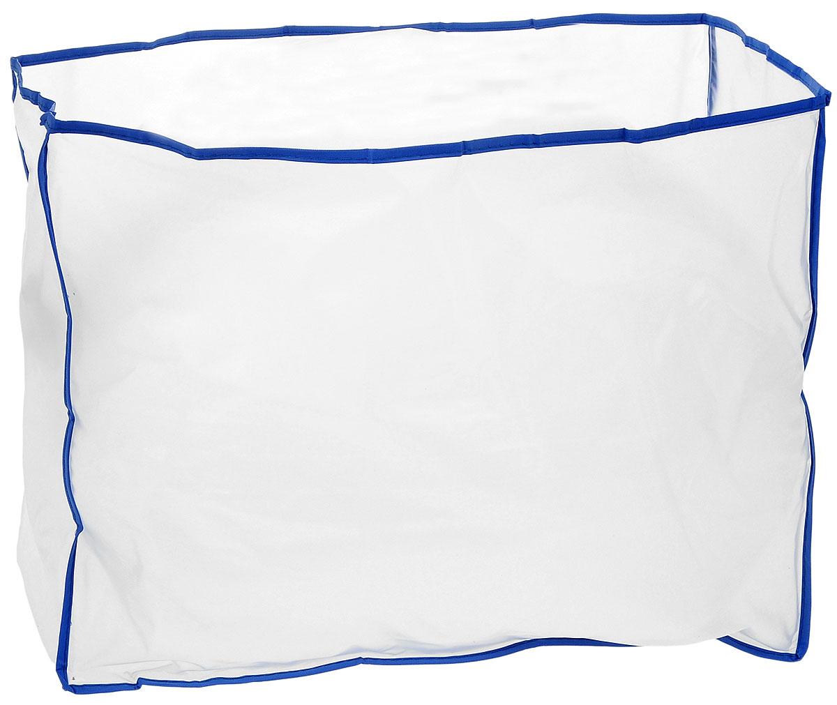 Чехол для швейной машины Hemline, 40 х 30 х 20 см191Чехол Hemline, изготовленный из плотного, полупрозрачного полиэтилена, идеально подходит для любых швейных машин. По краю выполнена синяя оторочка. С таким изделием ваша машинка будет защищена от пыли, грязи, текстильных волокон и солнечного света. Размер чехла: 40 х 30 х 20 см.